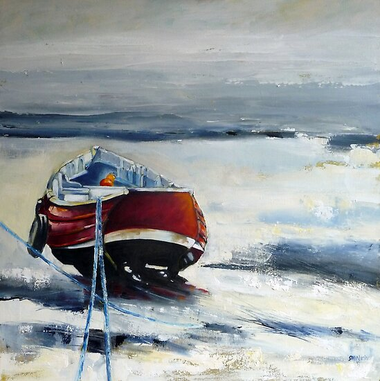 Red Coble, Teesmouth by Sue Nichol
