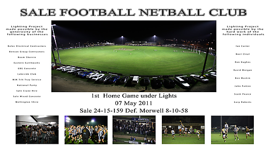 Sale Football Netball Club by Richard Cordell