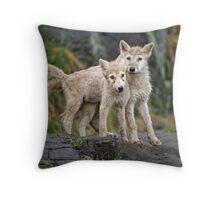 Sibling bonding Throw Pillow
