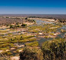 View of the Olifants River from Olifants Camp by Erik Schlogl