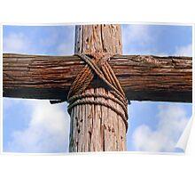 Cross Beams Close Up Poster