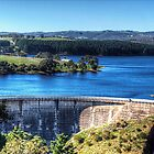 Myponga Dam wall and reservoir. by Simon Bannatyne