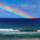 Rainbow hits the Sea by Simon Bannatyne