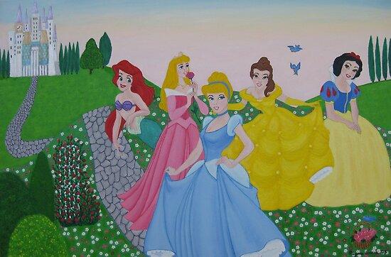 Disney princess painting by machka