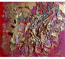 Magma and Gold Photographic Print