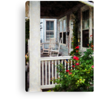 Roses and Rocking Chairs Canvas Print