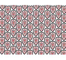 Ben's Hearts Pattern Photographic Print