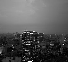Saigon at dusk by Francisco Vasconcellos