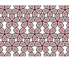 Heart Flower Pattern Photographic Print