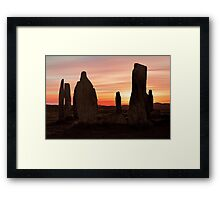 Ancient Scottish Standing Stones Framed Print