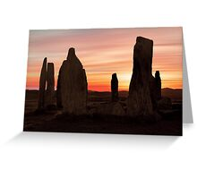 Ancient Scottish Standing Stones Greeting Card