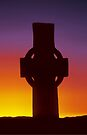 Celtic Cross, Iona by David Alexander Elder