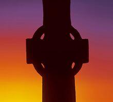 Celtic Cross, Iona by David Alexander Elder
