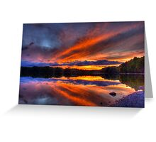 Lake of the Woods Sunset  Greeting Card
