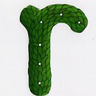 Topiary Alphabet &quot;r&quot; Coloured by Donnahuntriss