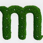 Topiary Alphabet &quot;m&quot; Coloured by Donnahuntriss