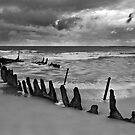 Dicky Beach Wreck by Glen-Michael Pepprell