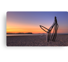 Whale in the Sand Canvas Print
