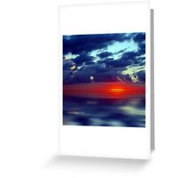 Over the Edge Sunset Greeting Card