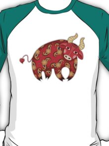 Red Decorative Bull T-Shirt