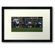 091611 037 0 field hockey Framed Print