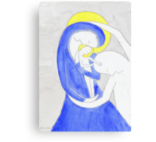 Mary, Joseph and child Canvas Print