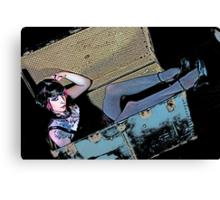 Steam Trunk Girl Canvas Print
