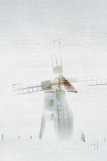 """""""fog"""" at Butle, Fårö, Gotland, greeting card by Gréta Thórsdóttir"""