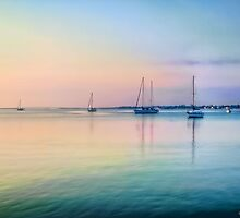 Sunday Morning Sailboats by Noble Upchurch