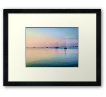 Sunday Morning Sailboats Framed Print