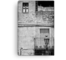 Old house in Taormina, Sicily Canvas Print