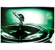 Water Drop Collision Poster