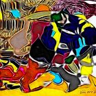Human-animal bond abstract by Gili Orr