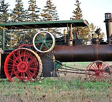 The Steam Powered Tractor by deb cole