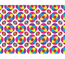 Psychedelic Pinwheels Photographic Print