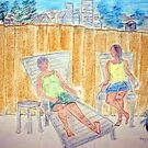 Vi and Karen on the Patio by * RoyAllenHunt *