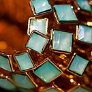 Green Square Bling by Hege Nolan