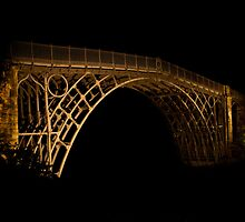 Ironbrisge at night. Telford, Shropshire. by SEFPhotography