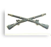 U.S. Infantry Cross Rifles Insignia Bronze Sculpture Metal Print