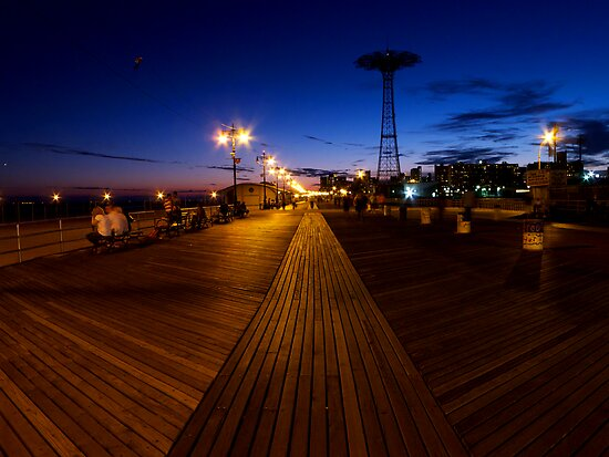 Boardwalk by Night by briceNYC