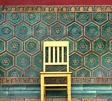 Yellow Chair at the Imperial Palace by Glennis  Siverson