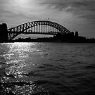 The Coathanger in Black & White - Sydney Harbour Bridge by MichaelJPenney
