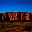 Uluru As The Sun Set by Ronald Rockman