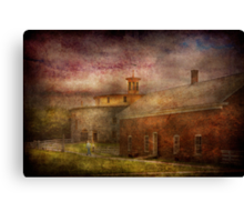 Farm - Barn - Shaker Barn  Canvas Print