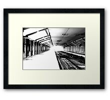 Time keeps on ticking, are you in the right train  Framed Print