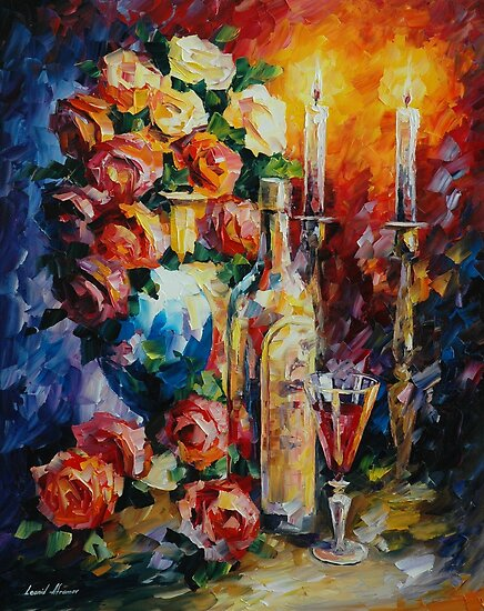 RED WINE - LEONID AFREMOV by Leonid  Afremov