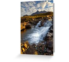 Sligachan Waterfall. Isle of Skye. Scotland. Greeting Card