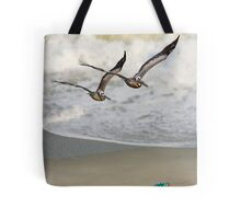 Pelican Pair with Surf and Beach Chair Tote Bag