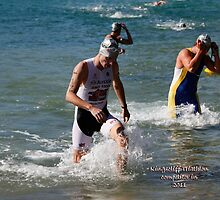 Kingscliff Triathlon 2011 Swim leg C371 by Gavin Lardner