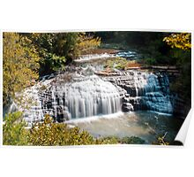 Middle Falls at Burgess Falls State Park, Sparta Tennessee Poster